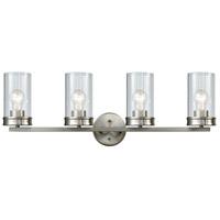 Decovio 14973-SNCB4 Birmingham 4 Light 31 inch Satin Nickel Vanity Light Wall Light
