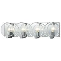 Decovio 14982-PCCB4 Olyphant 4 Light 25 inch Polished Chrome Vanity Light Wall Light
