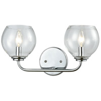 Decovio 14986-PCCB2 Glenolden 2 Light 16 inch Polished Chrome Vanity Light Wall Light
