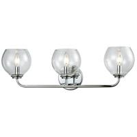 Decovio 14987-PCCB3 Glenolden 3 Light 26 inch Polished Chrome Vanity Light Wall Light