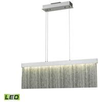 Decovio 15005-SATL1 Edgmont LED 32 inch Satin Aluminum with Polished Chrome Island Light Ceiling Light
