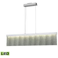 Decovio 15006-SATL1 Edgmont LED 48 inch Satin Aluminum with Polished Chrome Island Light Ceiling Light