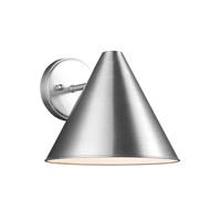 Decovio 16832-SA1 Moosic 1 Light 9 inch Satin Aluminum Outdoor Wall Lantern
