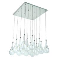 Decovio 16287-PCCL16 Collier LED 19 inch Polished Chrome Single Pendant Ceiling Light