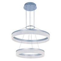 Decovio 16338-MSMWL1 Cazenovia LED 24 inch Metallic Silver Single Pendant Ceiling Light