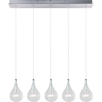 Decovio 16371-PCCX5 Albion 5 Light 31 inch Polished Chrome Linear Pendant Ceiling Light