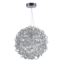 Decovio 16412-PCL8 Romulus LED 16 inch Polished Chrome Single Pendant Ceiling Light