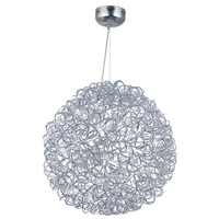 Decovio 16413-PCL12 Romulus LED 24 inch Polished Chrome Single Pendant Ceiling Light