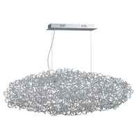 Decovio 16415-PCL12 Romulus LED 20 inch Polished Chrome Single Pendant Ceiling Light