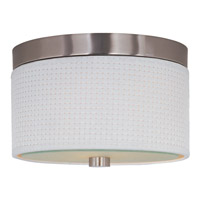 Decovio 16432-SNI2 Beekman 2 Light 10 inch Satin Nickel Flush Mount Ceiling Light