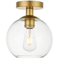 Decovio 12696-BI1-2 Huntington 1 Light 8 inch Brass Flush Mount Ceiling Light