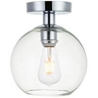 Decovio 12696-CI1 Huntington 1 Light 8 inch Chrome Flush Mount Ceiling Light
