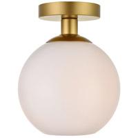 Decovio 12697-BI1-2 Huntington 1 Light 8 inch Brass Flush Mount Ceiling Light