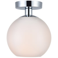 Decovio 12697-CI1 Huntington 1 Light 8 inch Chrome Flush Mount Ceiling Light