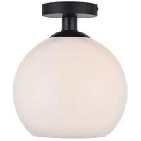 Decovio 12703-BI1 Huntington 1 Light 10 inch Black Flush Mount Ceiling Light