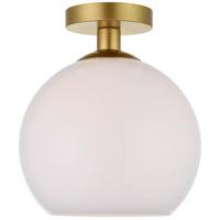 Decovio 12703-BI1-2 Huntington 1 Light 10 inch Brass Flush Mount Ceiling Light