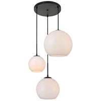 Decovio 12711-BI3 Huntington 3 Light 21 inch Black Pendant Ceiling Light