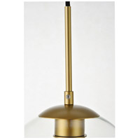 Decovio 12716-BI5-2 Huntington 5 Light 8 inch Brass Pendant Ceiling Light alternative photo thumbnail