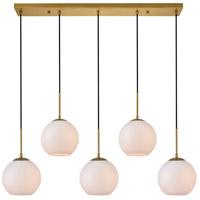 Decovio 12717-BI5-2 Huntington 5 Light 8 inch Brass Pendant Ceiling Light