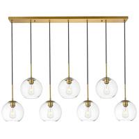 Decovio 12718-BI7-2 Huntington 7 Light 8 inch Brass Pendant Ceiling Light