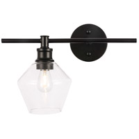 Decovio 12772-B1 Rochester 1 Light 15 inch Black Wall sconce Wall Light Left