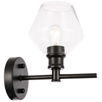 Decovio 12776-B1 Rochester 1 Light 6 inch Black Wall sconce Wall Light