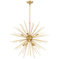 Decovio 12853-B8 Esopus 8 Light 30 inch Brass Pendant Ceiling Light