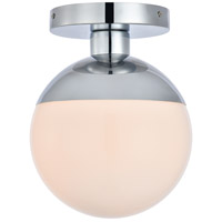 Decovio 12896-CI1 Oyster Bay 1 Light 8 inch Chrome Flush Mount Ceiling Light