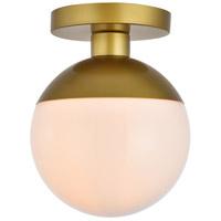 Decovio 12898-BI1 Oyster Bay 1 Light 8 inch Brass Flush Mount Ceiling Light