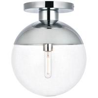 Decovio 12903-CI1 Oyster Bay 1 Light 12 inch Chrome Flush Mount Ceiling Light