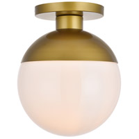 Decovio 12904-BI1 Oyster Bay 1 Light 12 inch Brass Flush Mount Ceiling Light