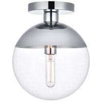 Decovio 12909-CI1 Oyster Bay 1 Light 10 inch Chrome Flush Mount Ceiling Light