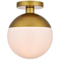 Decovio 12910-BI1 Oyster Bay 1 Light 10 inch Brass Flush Mount Ceiling Light