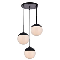 Decovio 12912-BI3 Oyster Bay 3 Light 18 inch Black Pendant Ceiling Light