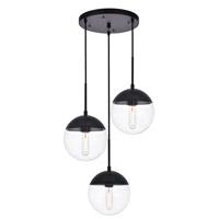 Decovio 12913-BI3 Oyster Bay 3 Light 18 inch Black Pendant Ceiling Light