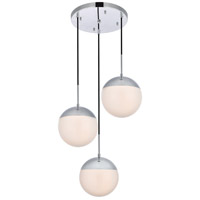 Decovio 12914-CI3 Oyster Bay 3 Light 18 inch Chrome Pendant Ceiling Light