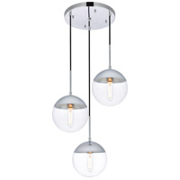 Decovio 12915-CI3 Oyster Bay 3 Light 18 inch Chrome Pendant Ceiling Light