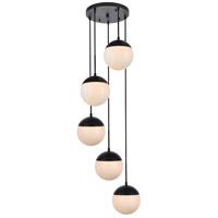Decovio 12918-BI5 Oyster Bay 5 Light 18 inch Black Pendant Ceiling Light
