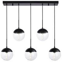 Decovio 12925-BI5 Oyster Bay 5 Light 8 inch Black Pendant Ceiling Light