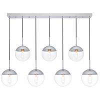 Decovio 12933-CI7 Oyster Bay 7 Light 8 inch Chrome Pendant Ceiling Light
