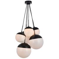 Decovio 12936-BI6 Oyster Bay 6 Light 28 inch Black Pendant Ceiling Light