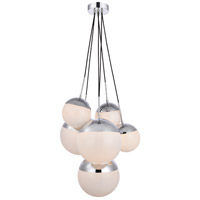 Decovio 12938-CI6 Oyster Bay 6 Light 28 inch Chrome Pendant Ceiling Light