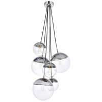 Decovio 12939-CI6 Oyster Bay 6 Light 28 inch Chrome Pendant Ceiling Light