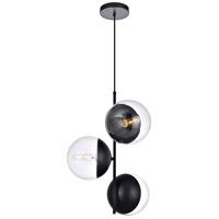 Decovio 12974-BI3 Oyster Bay 3 Light 18 inch Black Pendant Ceiling Light
