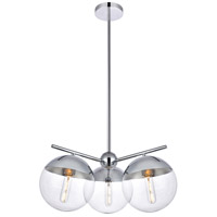 Decovio 12982-CI3 Oyster Bay 3 Light 21 inch Chrome Pendant Ceiling Light