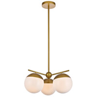Decovio 12983-BI3 Oyster Bay 3 Light 21 inch Brass Pendant Ceiling Light