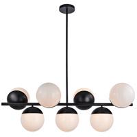 Decovio 12985-BI7 Oyster Bay 7 Light 18 inch Black Pendant Ceiling Light