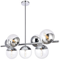 Decovio 12988-CI7 Oyster Bay 7 Light 18 inch Chrome Pendant Ceiling Light alternative photo thumbnail