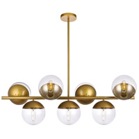 Decovio 12990-BI7 Oyster Bay 7 Light 18 inch Brass Pendant Ceiling Light