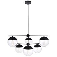 Decovio 12992-BI6 Oyster Bay 6 Light 36 inch Black Pendant Ceiling Light